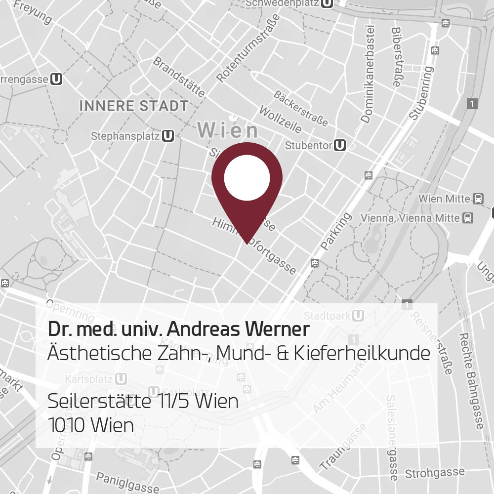 Zahnarzt Dr. Werner, 1010 Wien - Map
